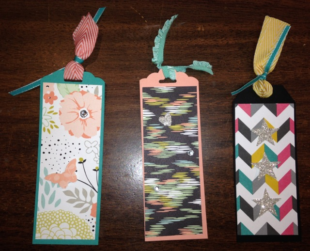 Simple book marks using the new ish tag punches stamping for Simple bookmarks