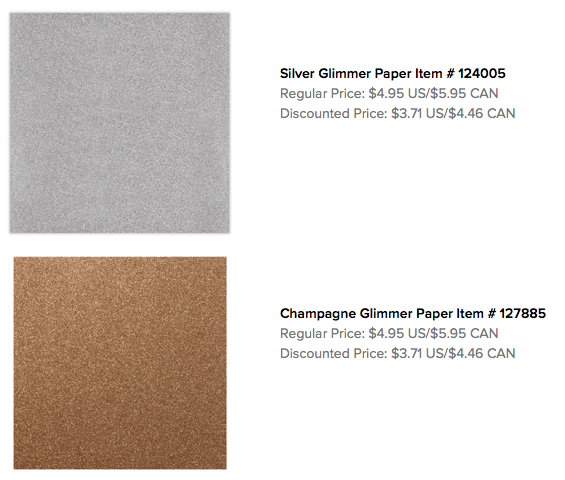 Silver and Champagne Glimmer Papers