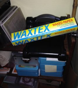 Waxed paper for helping with THINLITS and FRAMELITS