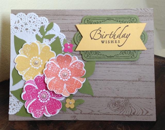 """Thinking of You/Birthday Card on hardwood """"fence"""""""
