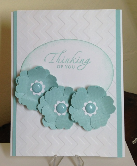 Pool Party/Whisper White Thinking of You card