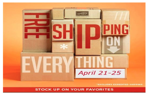 Free Shipping end April 25th