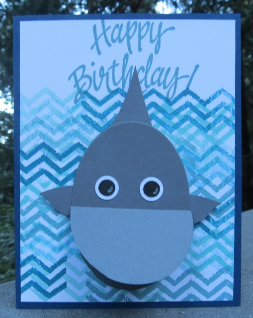Awesome Austins Shark Birthday Card Stamping With Blythe