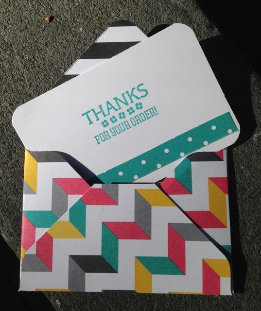 Kaleidoscope Designer Series Paper Thank You notes