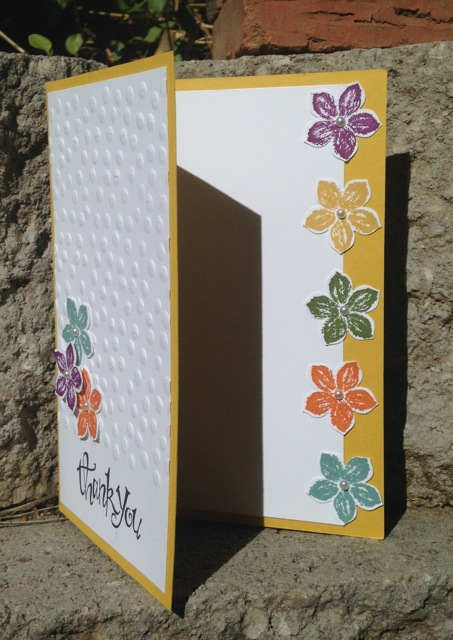 Petite Petals thank you card