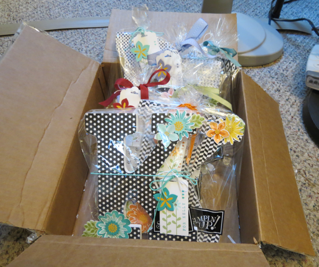 Monogrammed letters, IN BOX, ready to travel