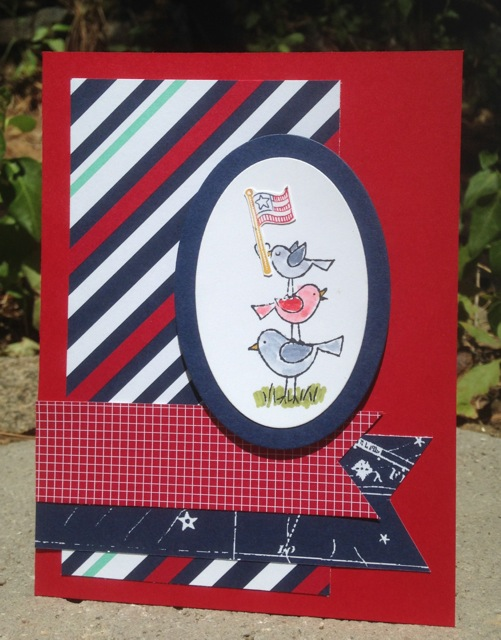 Patriotic card from sketch TSSC321