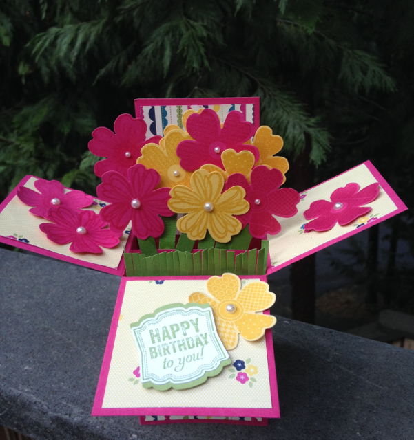 Card In A Box For A Special Birthday Girl Woman Stamping With Blythe