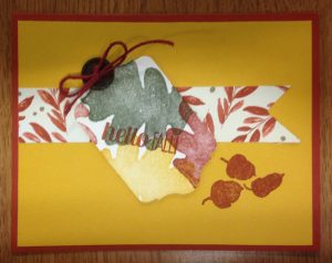 Jeanne's horizontal card made at the Mi Wuk Library on Sept 18, 2014