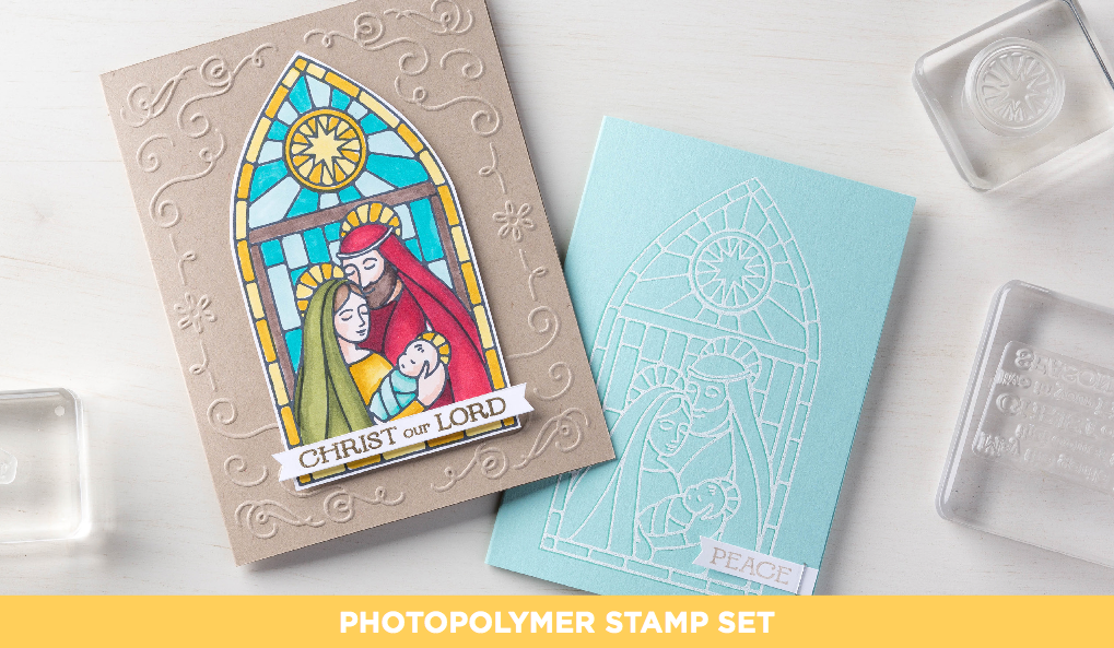 GENTLE PEACE PhotoPolymer set, 139523, $15.95.