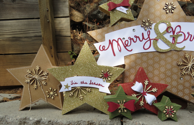 Close up #4 from Many Merry Stars Simply Created Kit, 138104