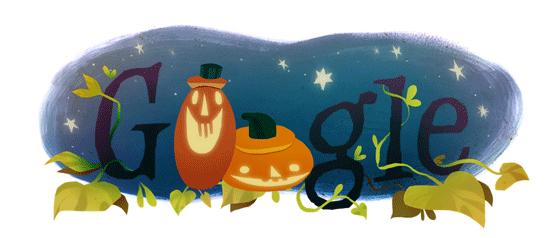 Google Haloween greeting