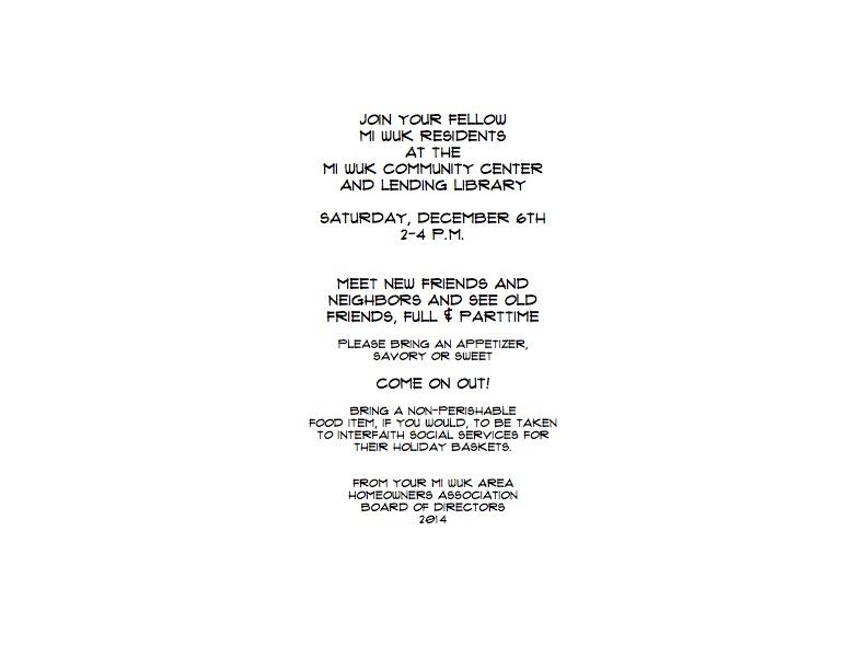 Plain MAHA holiday party invitation