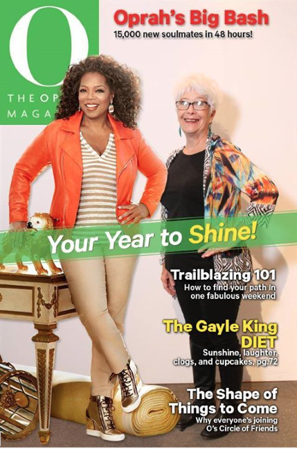 Blythe's shares the cover of O Magazine with Oprah!