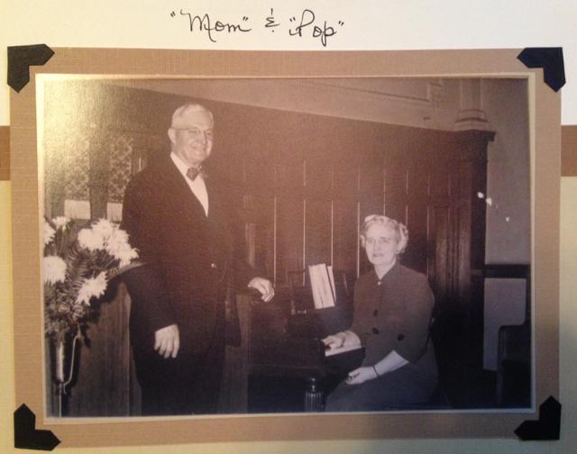 """""""Mom"""" and """"Pop"""" in Streator IL, circa 1955."""