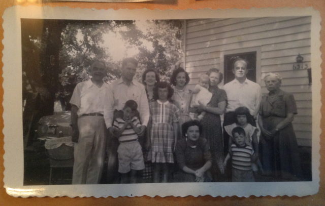 Berkheiser Clan, circa 1950, Kenosha, Wisconsin