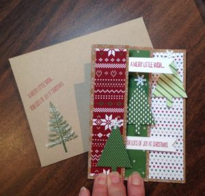 I think this is a lovely combo of card & envelope.