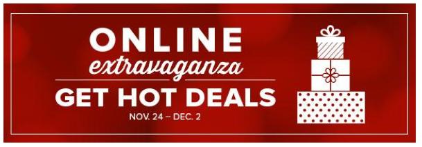 Online Extravaganza Nov 24 - Dec 2