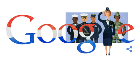 GOOGLE.COM's tribute to America's service personnel