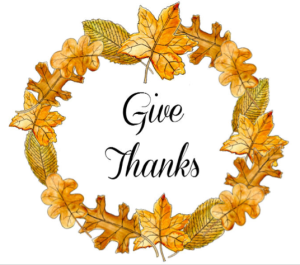 Give Thanks Autumn Leaves Wreath