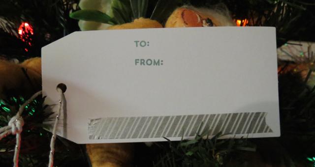 Happy Holidays tag My Paper Pumpkin kit Nov 2014, inside