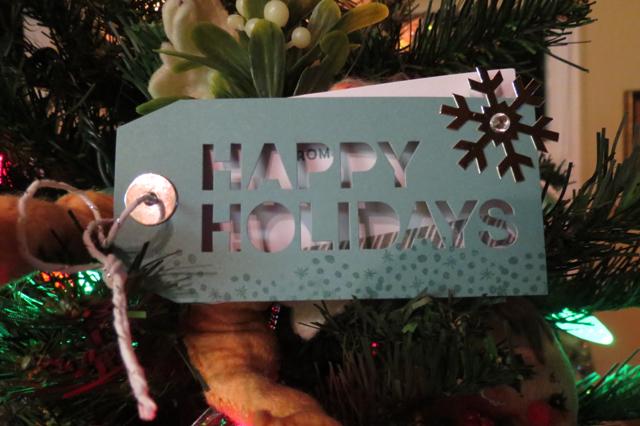 Happy Holidays tag My Paper Pumpkin kit Nov 2014