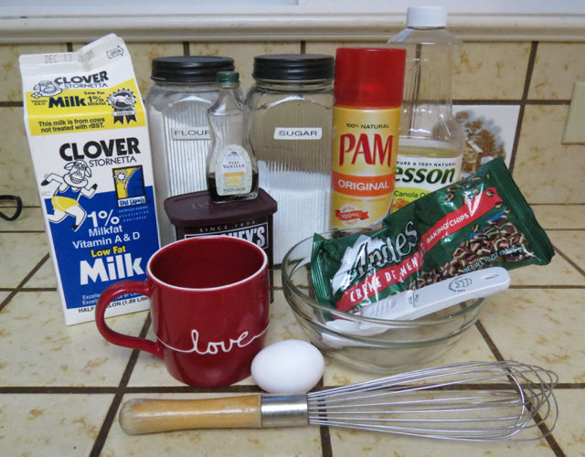 Ingredients for our Cup of Chocolate Cake