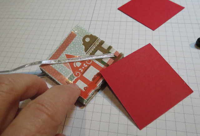 Attach solid card stock