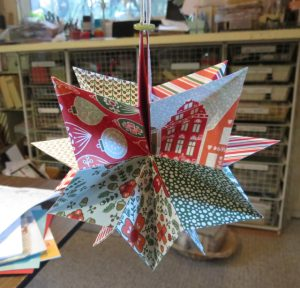 Finished star ornament