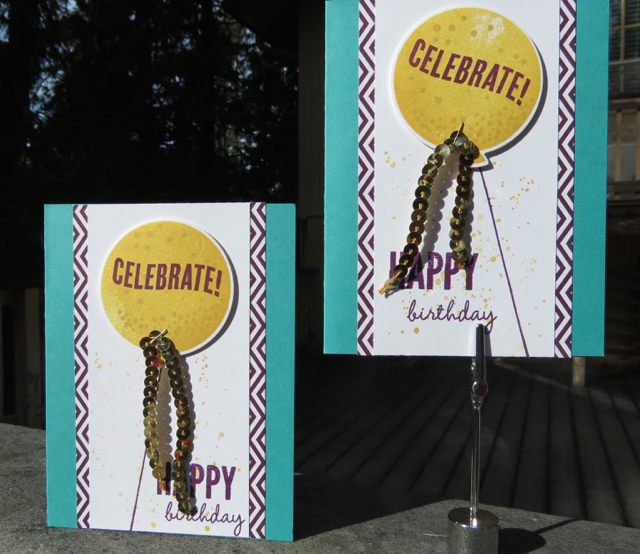 Two versions of our Celebrate Today, 138869 (bundle), cards