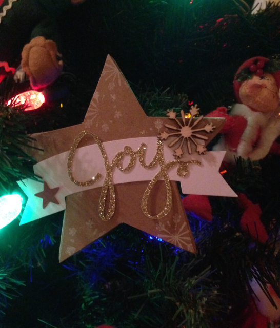 Many Merry Stars set out as decorations: JOY