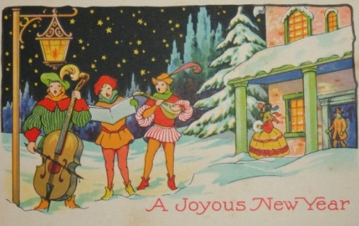 Vintage Musical Happy New Year image