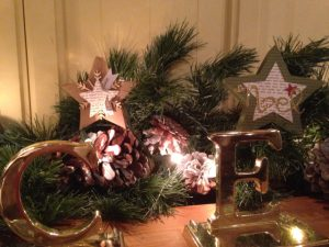 Many Merry Stars set out as decorations: NOEL