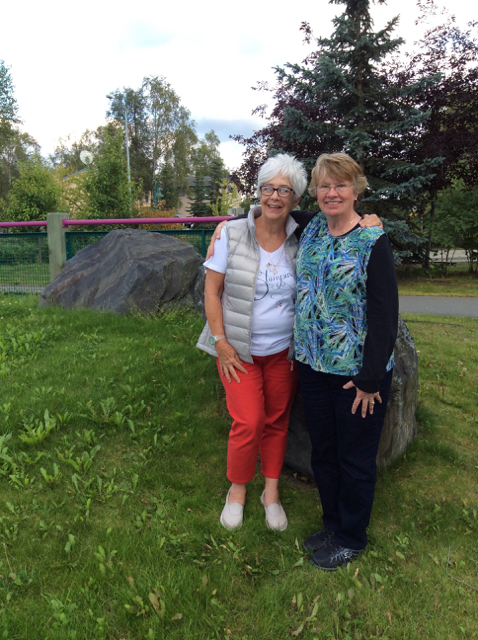 Blythe with Betty Kincannon in Anchorage, August 11, 2014