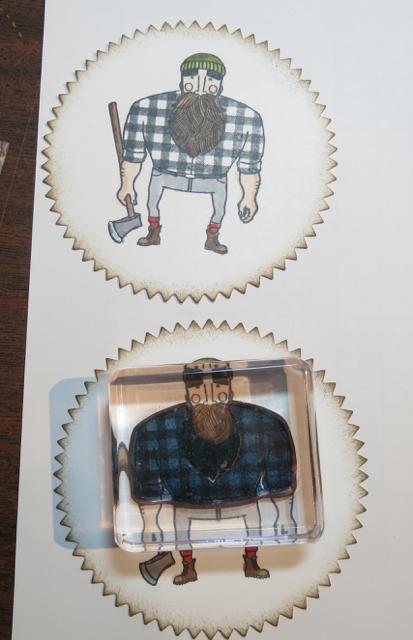 Adding color to the lumberjack's plaid shirt