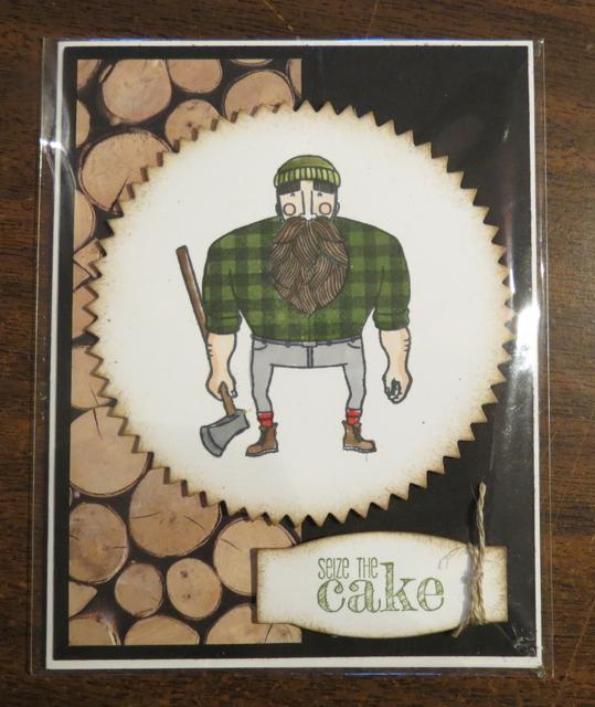 Bruce the Lumberjack's birthday card