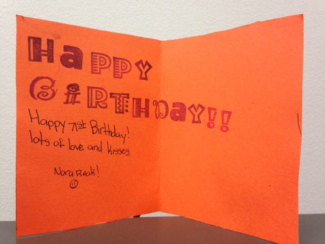 Birthday Cards By Kids Stamping With Blythe