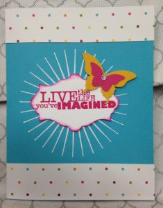 Live the LIfe birthday card
