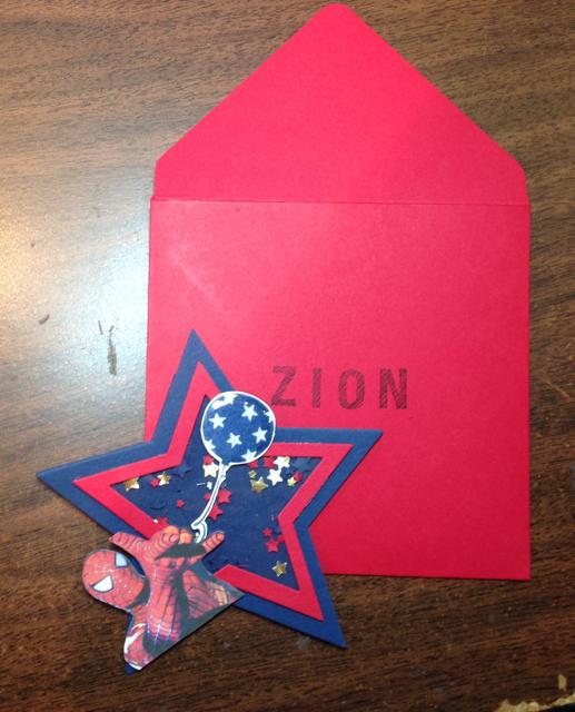 Finished card & envelope