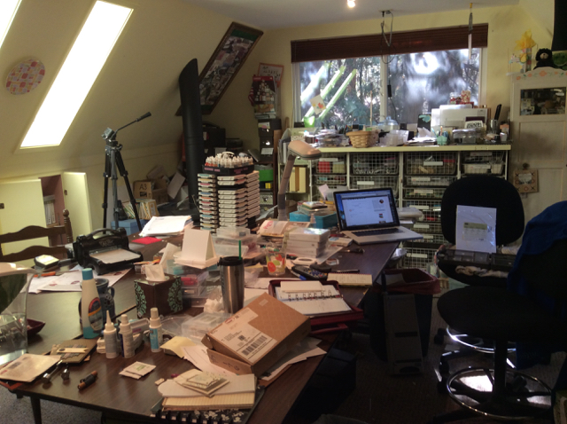 My Country Loft Studio as a mess!