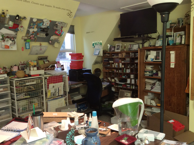 My Country Loft Studio as a mess! Looking to the left.