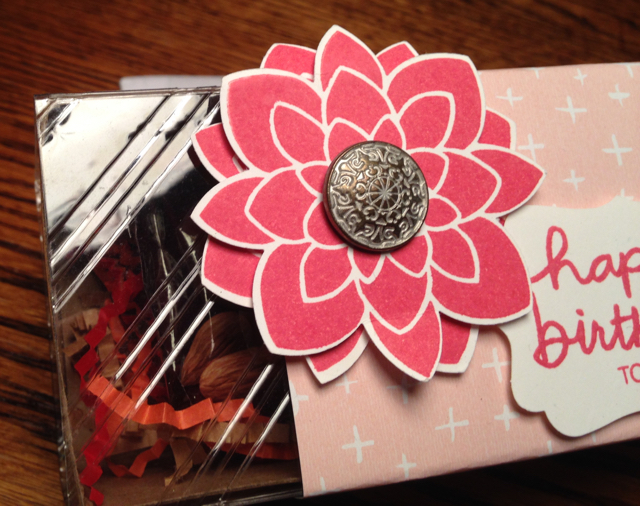 Close up of Tag a Bag Gift Box