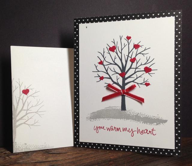 Sheltering Tree black/red/white Valentine