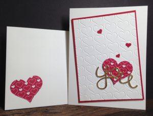 Love isHappy Heart Textured Embossing Folder Valentine card