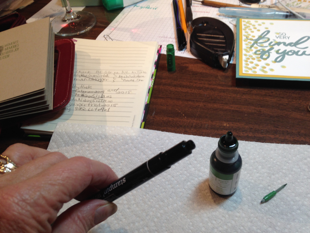 Step 2 for refilling a Stampin' Write Marker
