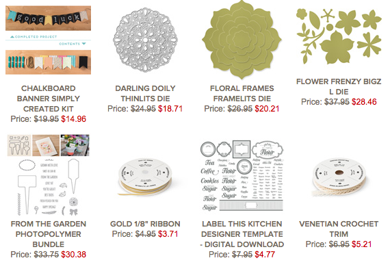 STAMPIN' UP! DEALS OF THE WEEK FEB 10-16