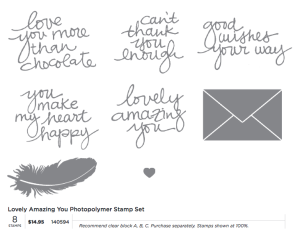 Lovely Amazing You Photopolymer Stamp Set, 140594