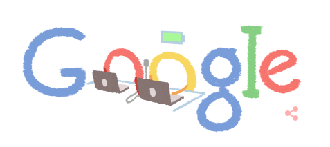 Google Doodle 2-14-15 ... got battery power