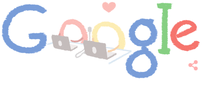 Google Doodle 2-14-15 ... love is in the air
