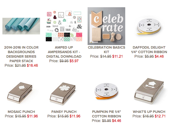 Stampin' Up! Weekly Deals 2-17-15 through 2-23-15